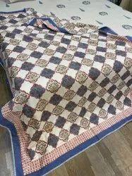 Hand Block Printed Paisley Design One Side Printed Cotton Dohar