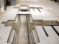 Concrete Frame Structures Industrial Projects Heavy Equipment Foundation, in Pan India