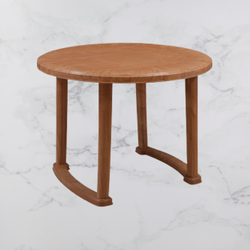 Brown Wooden Round Table
