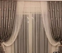 Eyelet Printed Rayon Window Curtain, Size: 8x5 Feet (lxw)