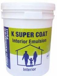 Matt 10 Liter K Super Coat Green Interior Emulsion Paint, Packaging Type: Bucket