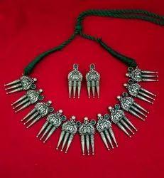 Black Brass Premium Quality Fusion Indo Western Necklace Set, Festivals