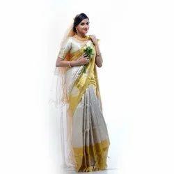 White Wedding Saree