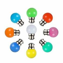 Round 0.5 Watt Color Bulb Colour : Green, For Indoor, Base Type: B22