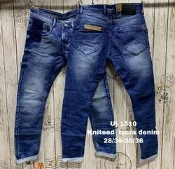 Knitted Lycra Denim Jeans