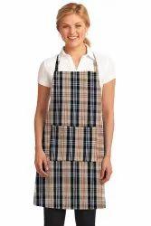Cotton Ladies Kitchen Cooking Apron, Single Pocket, Size: 65x80cm