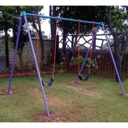 Mild Steel FRP Playground Swing, Seating Capacity: 2 Children