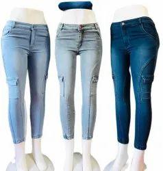 Dark Blue Ladies Skinny Fit Denim Jeans