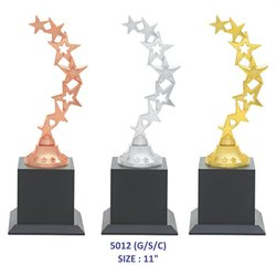 7 Stars Metal Trophy
