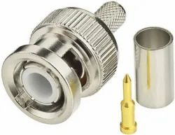 NETBOON BNC Male Plug Coax Connector Compatible with RG316, RG174 Cable, Contact Material: Brass