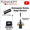 Rectangular Button Badge Machine