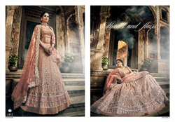 Rose Pink Georgette Lehenga Choli With Swarovski Thread And Zari Work (pre-order)