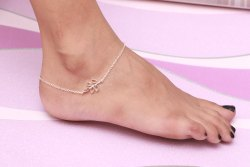 New 925 Sterling Silver Leaf Design Anklet For Women Girls Jewellery