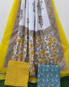 Cotton Dupatta Dress Material Suit