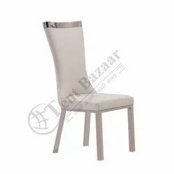 Tent Bazaar White and Silver WDC-032 Dining Chairs