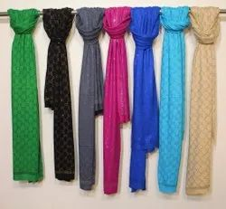 Blended Knitted Fabrics Allover Crystal Stole, GSM: 100-150, 250