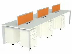 Prelaminated Particle Board 6 Office Furniture, Size: 1200 X 600 X 1050 Mm