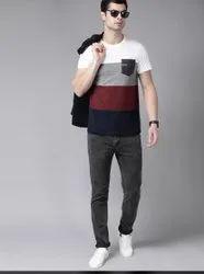 Multicolour Casual Wear Single Pocket Men Shirt