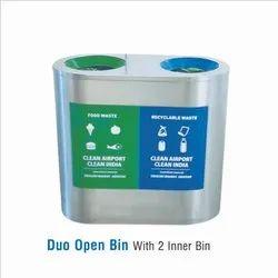 Stainless Steel Duo Bin