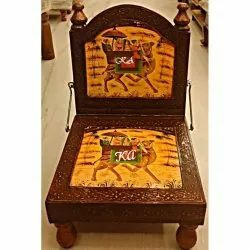 Traditional Hand printed Wooden Chair