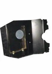 Black Mild Steel Honda Shine Engine Plate