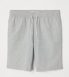 Knee Length Cotton Shorts, Two Pockets