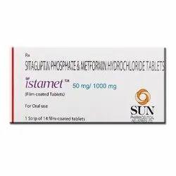 Istamet 50 Mg/1000 Mg Sitagliptin Phosphate & Metformin Hydrochloride Tablets