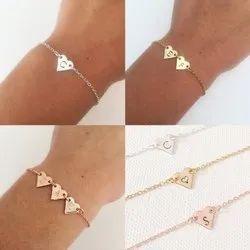 Personalized Name Heart Shape Bracelet