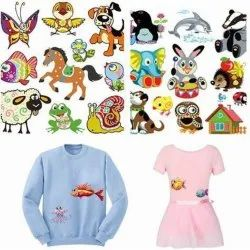 Cloth Cartoon Sticker Printing Service, For Garment, In Pan India