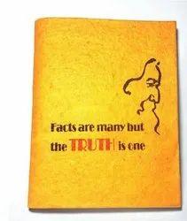 黄色印花手工纸日记,规格:7 * 5英寸
