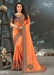 Fancy Vichitra Silk Saree