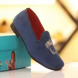 Blue Kids Loafers Shoes, Size: 2 Ind