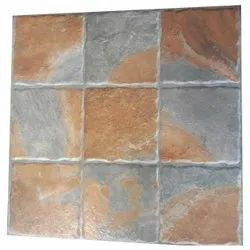 Square Stone Textured Ceramic Wall Tiles, Size: 1x1 Feet, Thickness: 10 Mm