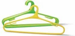 Coman Multicolor Plastic Heavy Single Layer Hangers, For Home