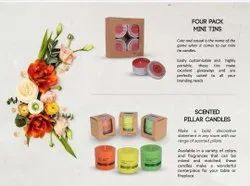 Festival Candle Red Mini Tin Scented Candles
