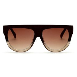 Designer Oversized Top Flat Oval Style Unisex Sunglasses