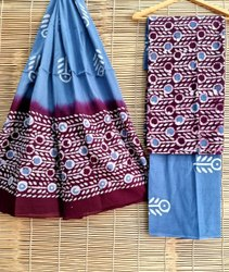 tanishaka fab Batik Print Cotton Suit