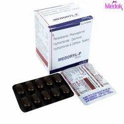 Paracetamol Phenylephrine Hydrochloride Cetirizine Hydrochloride and Caffeine Tablets