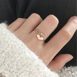 Customized Name Ring