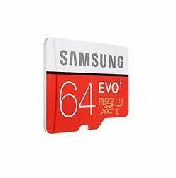 Samsung Memory Card, Size: MicroSD, Memory Size: 64 GB