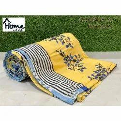 Designer Yellow Double Bed AC Dohar Blanket