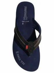 Casual Footonx Men Blue Rubber Slipper, Design/Pattern: Printed, Size: 8