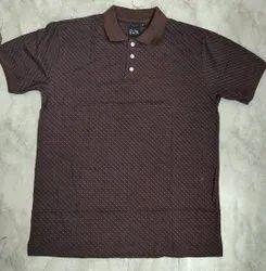 Cotton Half Sleeve Men'S Polo T-Shirt