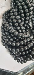 Black Round Shungite Beads 8 Mm