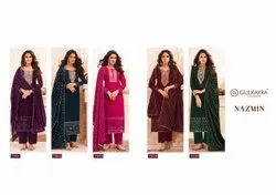Party Wear Nazmin By Gulkayra Real Georgette Salwar Kameez Catalogue, Size: Small