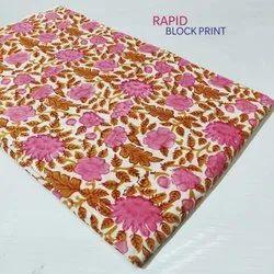 Hand Block Print Cotton Fabric For Ladies