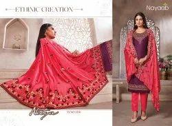 Nayaab Jam Satin Party Wear Dress Material