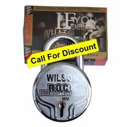 Wilson With Key Round Padlock Rock 66mm S/L, Packaging Size: 5 Pieces, Chrome