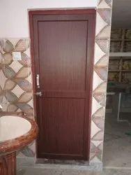 Brown PVC Bathroom Door