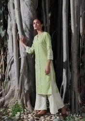 four buttons Party Wear Designer cotton readymade top and bottom